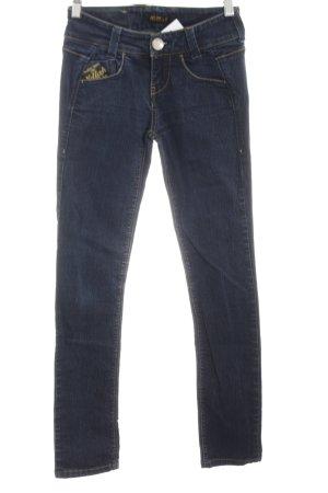 Killah Skinny Jeans blau Schriftzug gedruckt Casual-Look