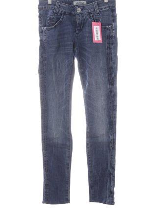Killah Skinny Jeans dunkelblau Used-Optik