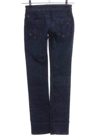 Killah Straight-Leg Jeans blau Schriftzug gestickt Casual-Look