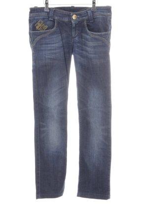 Killah Straight-Leg Jeans dunkelblau-blassblau Washed-Optik