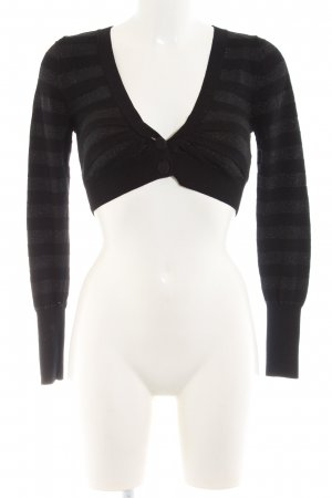 Killah Knitted Bolero black-silver-colored striped pattern casual look