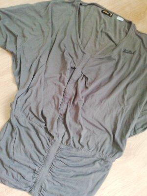 Killah T-shirt col en V gris brun