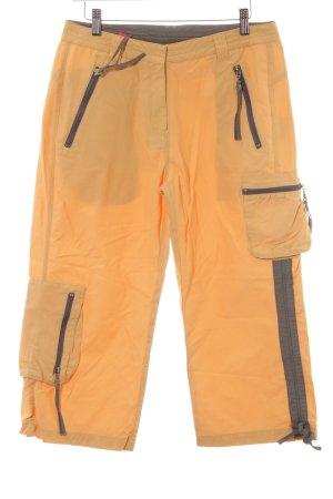Killtec 3/4 Length Trousers gold orange-khaki color blocking extravagant style