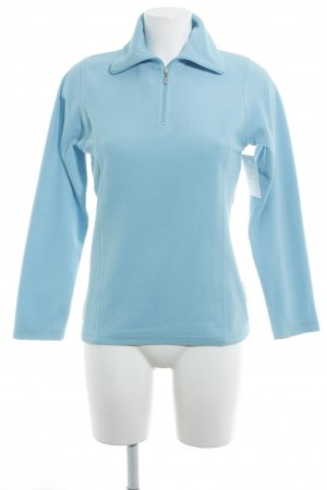 Killtec Fleecepullover hellblau meliert Casual-Look