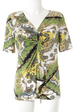 Kim & Co Kurzarm-Bluse abstraktes Muster Elegant