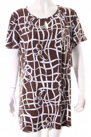 Kim & Co Long Shirt brown-white abstract pattern extravagant style