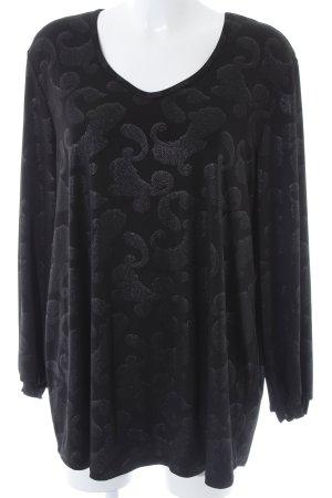 Kim & Co Longshirt schwarz-silberfarben Paisleymuster Casual-Look
