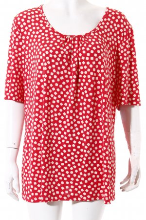 Kim & Co Shirt white-red spot pattern casual look