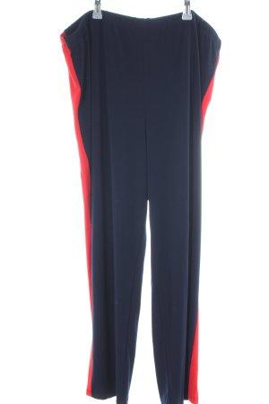 Kim & Co Stoffhose blau-rot Casual-Look