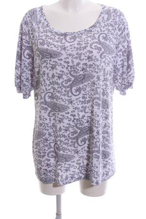 Kim & Co T-Shirt lila-schwarz Allover-Druck Casual-Look