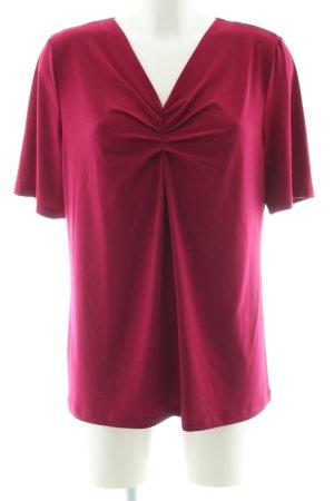 Kim & Co V-Ausschnitt-Shirt rot Casual-Look