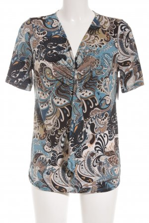 Kim & Co V-Ausschnitt-Shirt florales Muster Romantik-Look