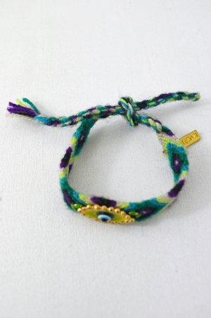 KIM & ZOZI Armband Hippie-Armband Auge Türkis Grün Hellgrün Lila Weiss 0Size