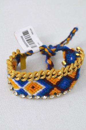 KIM & ZOZI Armband Hippie-Armband Bling Bunt Blau Petrol Weiss Gelb Kette 0Size