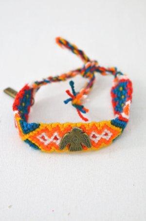 KIM & ZOZI Armband Hippie-Armband Geknüpft Rot Blau Petrol Gelb Adler 0Size