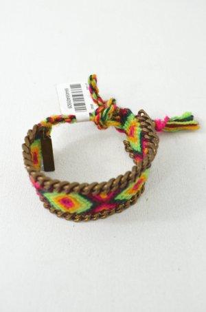 KIM & ZOZI Armband Hippie-Armband Kette Pink, Aubergine, Gelb, Hellgrün 0Size