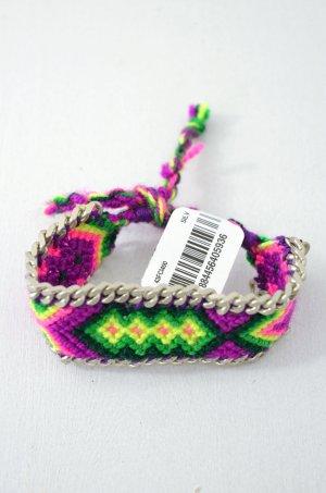 KIM & ZOZI Armband Hippie-Armband Kette Pink Lila Gelb Grün Hellgrün 0Size