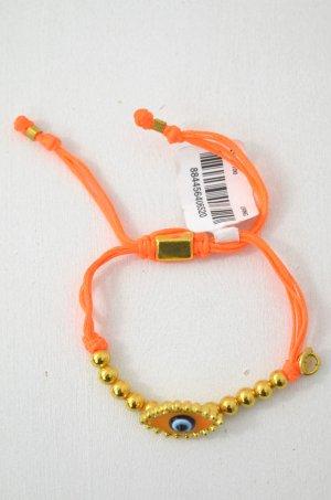 KIM & ZOZI Armband Hippie-Armband Neonorange Perlen Gold Auge Accessoire 0Size