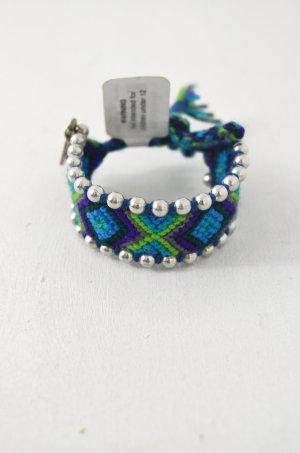 KIM & ZOZI Armband Hippie-Armband Perlen Blau Türkis Grün Lila Oliv 0Size
