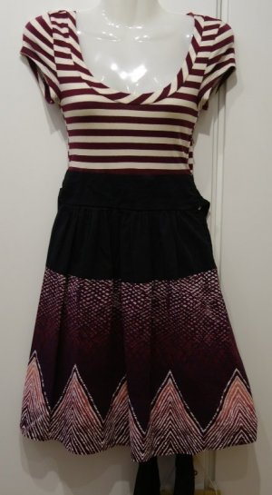 Kimchi Blue Anthropology made in USA Kleid Gr.S (36) bordeaux Retro Marine Style