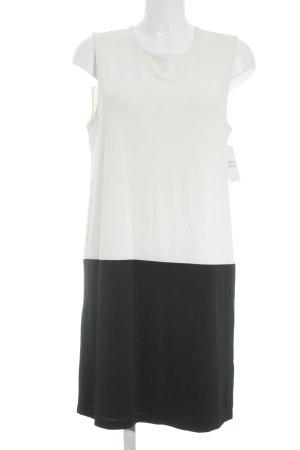 KImmich Trikot A-Linien Kleid schwarz-wollweiß Business-Look