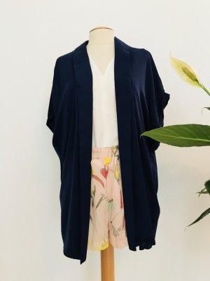 H&M Blusa tipo kimono azul oscuro Poliéster