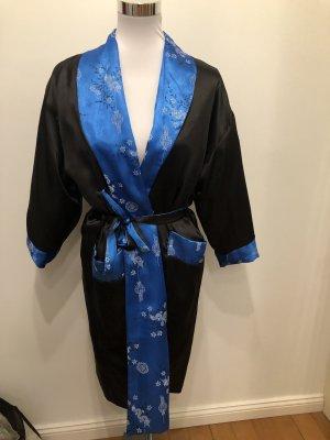 Peignoir noir-bleu