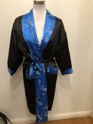 Badjas zwart-blauw