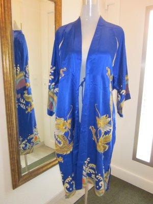 Kimono Blau Reine Seide NEU Gr M/L