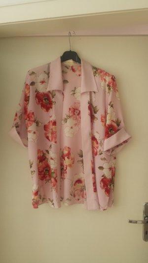 Kimono Blazer Jacke Cardigan Blumen Pastell Frühling Sommer Blogger Vintage