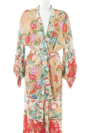 Kimono estampado floral estilo extravagante