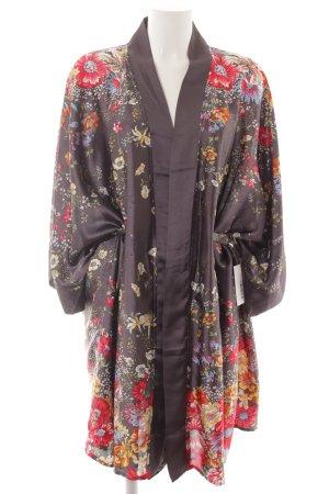 Kimono Blumenmuster Lingerie-Look