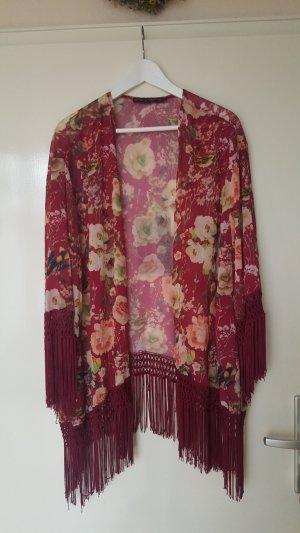 Kimono burdeos