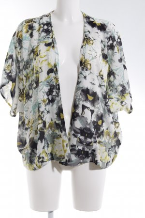 Kimono-Bluse abstrakter Druck Casual-Look