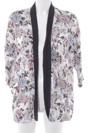 Kimono blouse bloemenprint casual uitstraling