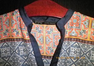 Zara Basic Kimono blouse veelkleurig Polyester