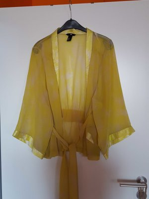 Kimono Bluse im schöne Gelbfarbe