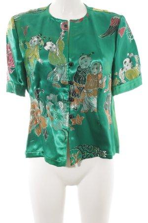 Chemisier kimono Mélange de motifs élégant