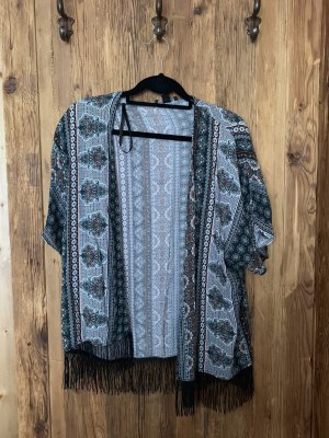 Atmosphere Fringed Vest multicolored
