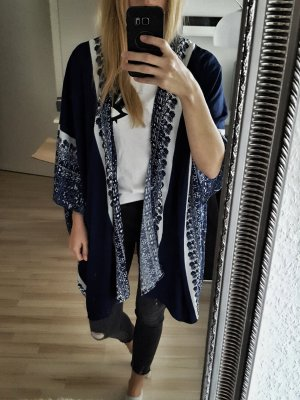 Kimono white-steel blue