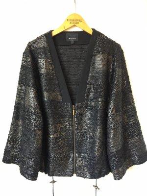 Kriss Sweden Kimono Blouse black-taupe