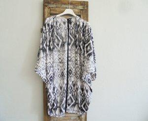 Kimono-Jacke  schwarz-weiß M