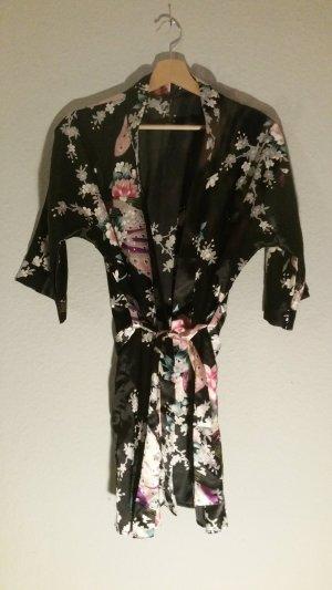 Kimono noir-rose