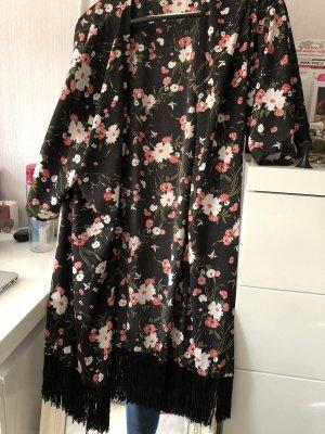 Clockhouse Blusa tipo kimono negro