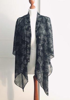 Kimono blouse zwart-wit