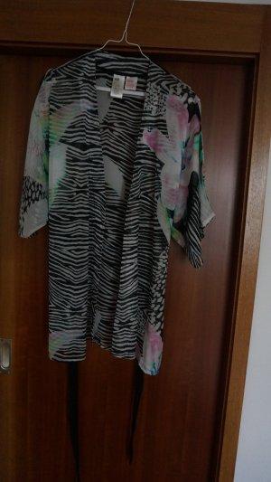 Kimono mit schönem Zebra-/Blumenprint