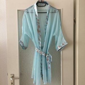 Kimono celeste-giallo lime