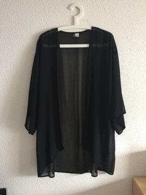 Kimono Schwarz Fledermausärmel