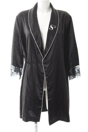 Kimono negro reluciente