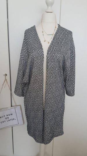 Kimono schwarz weiß Azteken Print Muster gestreift